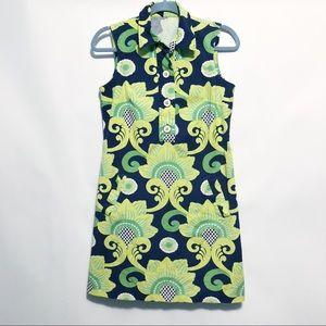 J. McLaughlin Sleeveless Button Front Shirt Dress